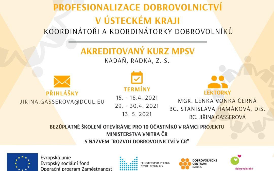"""Kurz """"Profesionalizace dobrovolnictví"""""""