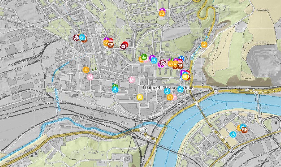 Interaktivní mapa pomoci v Ústí nad Labem