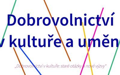 Pozvánka – Konference Dobrovolnictví v kultuře a umění