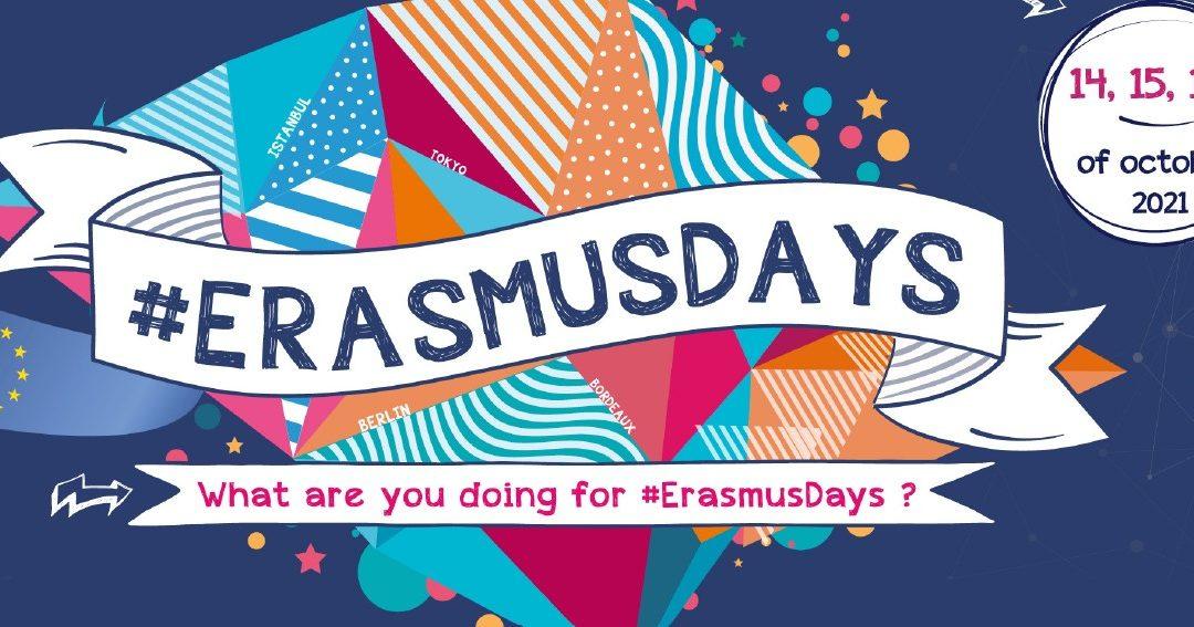 """Pozvánka – Erasmusdays 2021 """"Dobrovolnictví jako neformální vzdělávání"""""""